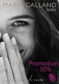 30% de réduction sur les produits de la marque MARIA GALLAND chez Ephélide !